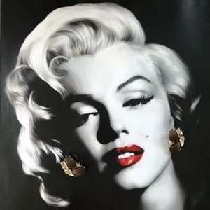 Vintage Lucite Aurora Borealis Clip On Earrings